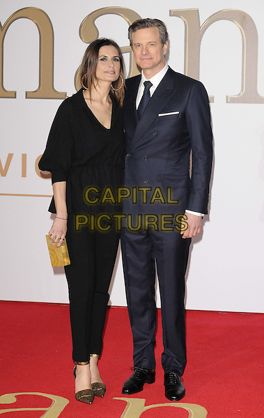 LONDON, ENGLAND - JANUARY 14: Livia Firth &amp; Colin Firth attend the &quot;Kingsman: The Secret Service&quot; world film premiere, Odeon Leicester Square cinema, Leicester Square, on Wednesday January 14, 2015 in London, England, UK. <br /> CAP/CAN<br /> &copy;Can Nguyen/Capital Pictures