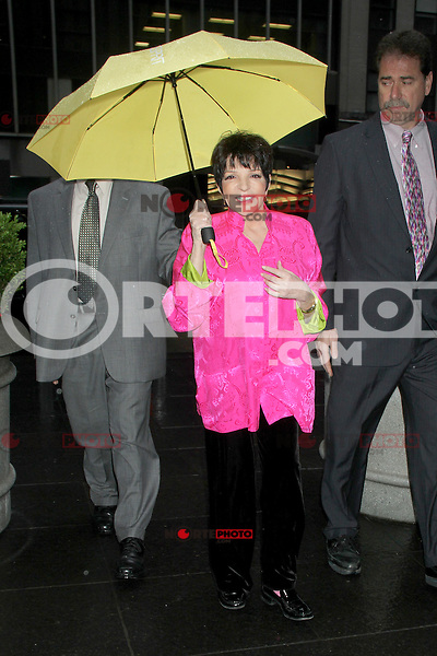 May 22, 2012 Liza Minnelli at Fox and Friends to talk her new CD Liza Live from the Winter Garden performance in New York City. Credit: RW/MediaPunch Inc.
