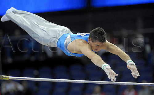 13th October 2009: World Gymnastics Champion ships at the O2 Arena London. Mens Qualifying Competition.Igor Cassina Italy . . Photo by Alan Edwards/Actionplus. ..