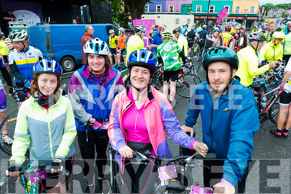 Pictured at the Ring of Beara Cycle in Kenmare on Saturday morning last, were l-r: Julie Deane, Deirdre Kearney, Maria Moynihan and Danny Riordan.