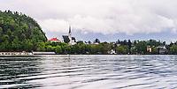 Church of St Martin, Lake Bled, Gorenjska, Slovenia, Europe
