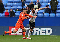 Bolton Wanderers' Mark Beevers competing with Millwall's Lee Gregory <br /> <br /> Photographer Andrew Kearns/CameraSport<br /> <br /> The EFL Sky Bet Championship - Bolton Wanderers v Millwall - Saturday 9th March 2019 - University of Bolton Stadium - Bolton <br /> <br /> World Copyright © 2019 CameraSport. All rights reserved. 43 Linden Ave. Countesthorpe. Leicester. England. LE8 5PG - Tel: +44 (0) 116 277 4147 - admin@camerasport.com - www.camerasport.com