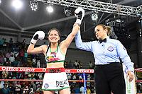"""Yazmin """"La rusita"""" Rivas gana titulo Mundial AMB Supergallo, Monteria, 19-05-2018"""
