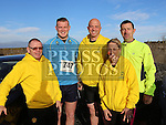 Liam Doyle, David Downey, Robert Mathews, Nick Doyle and Elaine Byrne at the Annagassan 10km.<br /> <br /> <br /> Photo - Jenny Matthews