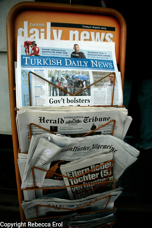 Foreign language newspapers for sale in Istanbul