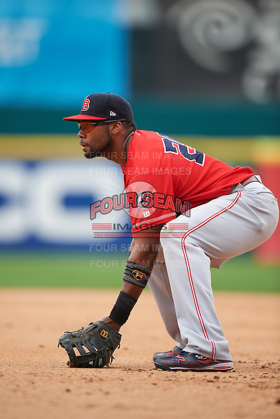 Louisville Bats first baseman Brandon Allen (29) during a game against the Buffalo Bisons on June 23, 2016 at Coca-Cola Field in Buffalo, New York.  Buffalo defeated Louisville 9-6.  (Mike Janes/Four Seam Images)