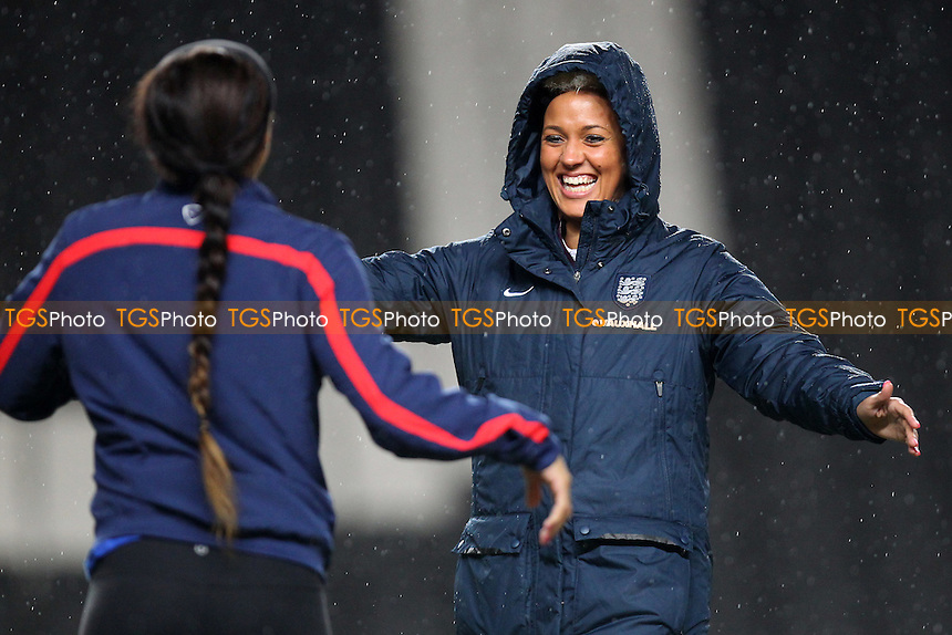 Lianne Sanderson of England of England looks on ahead of kick-off - England Women vs USA Women - International Football Friendly Match at Stadium MK, Milton Keynes Dons FC - 13/02/15 - MANDATORY CREDIT: Gavin Ellis/TGSPHOTO - Self billing applies where appropriate - contact@tgsphoto.co.uk - NO UNPAID USE