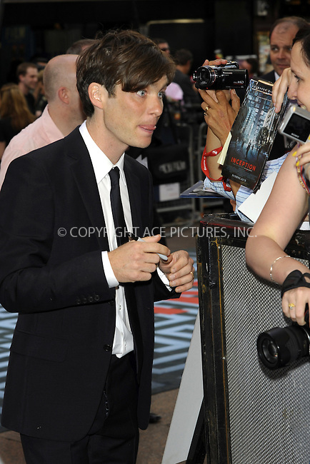 "WWW.ACEPIXS.COM . . . . .  ..... . . . . US SALES ONLY . . . . .....July 8 2010, New York City....Cillian Murphy at the World premiere of ""Inception"" on July 8 2010 in London....Please byline: FAMOUS-ACE PICTURES... . . . .  ....Ace Pictures, Inc:  ..Tel: (212) 243-8787..e-mail: info@acepixs.com..web: http://www.acepixs.com"