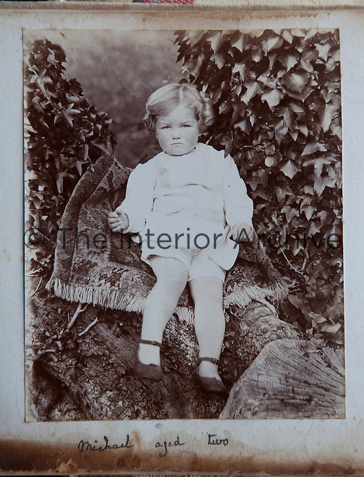 A photograph of Michael Parsons, aged two