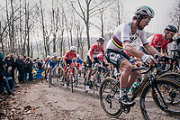 World Champion Peter Sagan (SVK/Bora-Hansgrohe) up the Baneberg<br /> <br /> 81st Gent-Wevelgem in Flanders Fields (1.UWT)<br /> Deinze &gt; Wevelgem (251km)