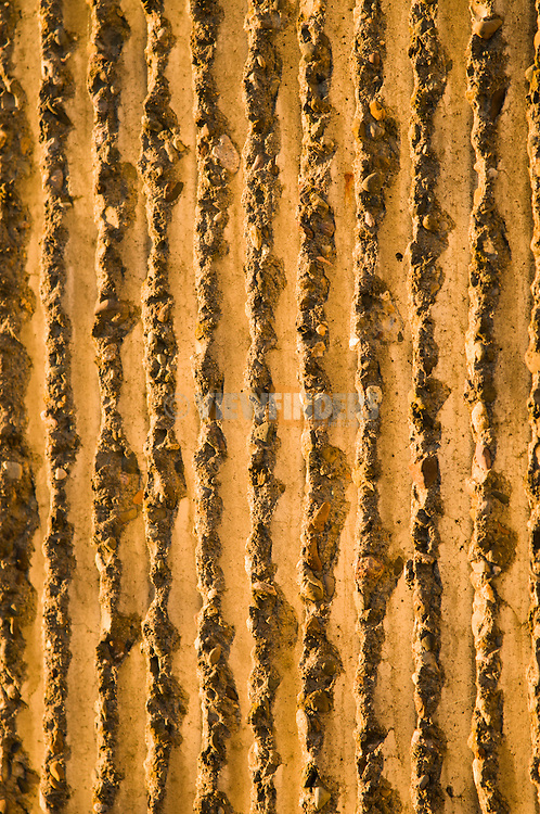 Close-up detail of a textured wall.