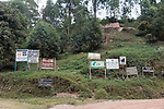 Lake Mutanda & Lodging Signs