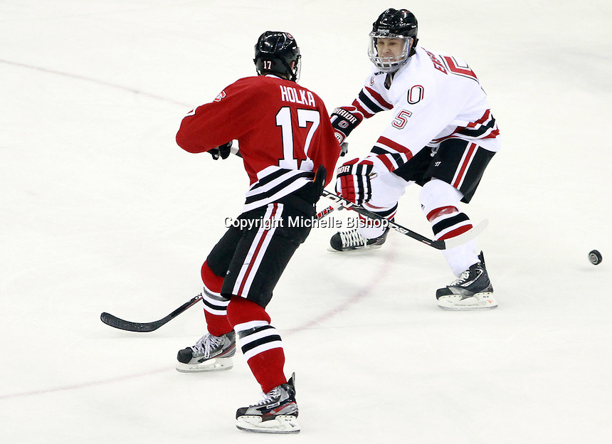 St. Cloud State and Nebraska-Omaha skated to a 2-2 tie on Nov. 27, 2011. (Photo by Michelle Bishop)..