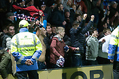 2nd December 2017, Global Energy Stadium, Dingwall, Scotland; Scottish Premiership football, Ross County versus Dundee; Dundee fans celebrate their win at full time