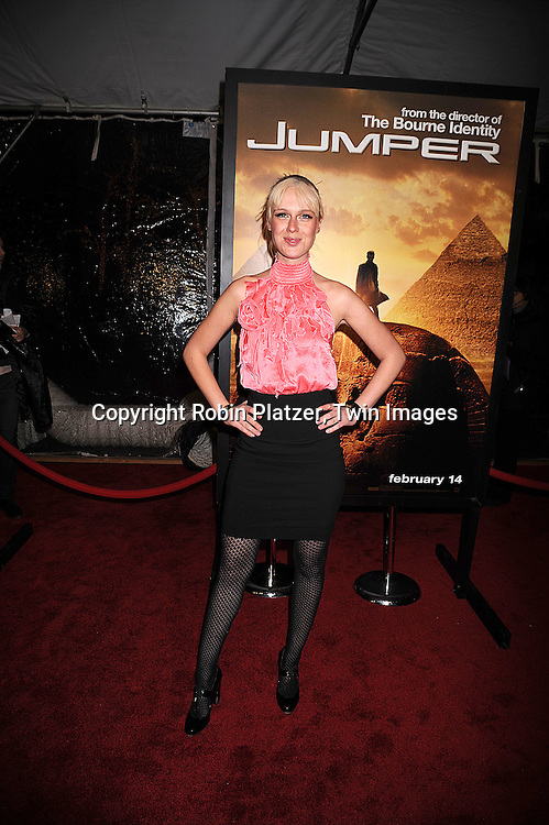 "CariDee English, winner of America's Next Top Model season 7.arriving at The New York Premiere of ""Jumper"" on     February 11, 2008 at The Ziegfeld Theatre in New York City. the movie stars Hayden Christensen, Rachel Bilson, .AnnaSophia Robb, Jamie Bell,Michael Rooker, Teddy Dunn and Samuel L Jackson...Robin Platzer, Twin Images..212-935-0770"