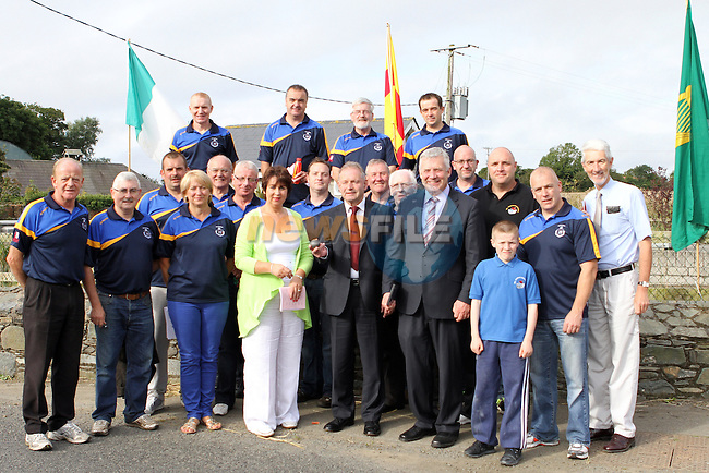 Drogheda Club Members and dignitaries at the all Ireland Junior and Novice Road Bowling Finals hosted by the Drogheda and District Road Bowls Club on the Baltray Road, Drogheda, Co.Louth....Photo NEWSFILE/Jenny Matthews.
