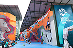 Kokoro Fuji (JPN), <br /> AUGUST 24, 2018 - Sport Climbing : <br /> Men's Combined Qualification Bouldering<br /> at Jakabaring Sport Center Sport Climbing <br /> during the 2018 Jakarta Palembang Asian Games <br /> in Palembang, Indonesia. <br /> (Photo by Yohei Osada/AFLO SPORT)
