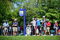 Eun-Hee Ji (KOR) watches her tee shot on 18 during Saturday's round 3 of the 2017 KPMG Women's PGA Championship, at Olympia Fields Country Club, Olympia Fields, Illinois. 7/1/2017.<br /> Picture: Golffile | Ken Murray<br /> <br /> <br /> All photo usage must carry mandatory copyright credit (&copy; Golffile | Ken Murray)