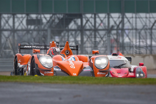 15.04.2016 Silverstone Circuit Northamptonshire England. Free Practice for Round 1 of the European Le Mans Series 2016 (ELMS). #38 Simon Dolan (GBR) / Harry Tincknell (GBR) / Giedo Van Der Garde (NLD) driving the G-DRIVE RACING Gibson 015S-Nissan LMP2 car.