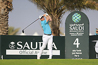 David Horsey (ENG) on the 4th tee during the 1st round of  the Saudi International powered by Softbank Investment Advisers, Royal Greens G&CC, King Abdullah Economic City,  Saudi Arabia. 30/01/2020<br /> Picture: Golffile | Fran Caffrey<br /> <br /> <br /> All photo usage must carry mandatory copyright credit (© Golffile | Fran Caffrey)