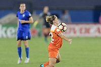 Frisco, TX - Sunday September 03, 2017: Camille Levin during a regular season National Women's Soccer League (NWSL) match between the Houston Dash and the Seattle Reign FC at Toyota Stadium in Frisco Texas. The match was moved to Toyota Stadium in Frisco Texas due to Hurricane Harvey hitting Houston Texas.