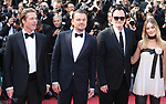 "72nd edition of the Cannes Film Festival in Cannes in Cannes, southern France on May 21, 2019. Red Carpet for the screening of the film ""Once Upon a Time... in Hollywood"" US actor Brad Pitt, US actor Leonardo DiCaprio, US film director, screenwriter, producer, and actor Quentin Tarantino, Australian actress Margot Robbie and on the red carpet.<br /> © Pierre Teyssot / Maxppp"