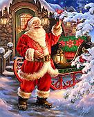 Dona Gelsinger, CHRISTMAS SANTA, SNOWMAN, paintings+++++,USGE1317,#x# Weihnachtsmänner, Papá Noel, Weihnachten, Navidad, illustrations, pinturas klassisch, clásico