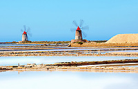 Ettore Infesera windmill, Masala Sicily. travel stock photos