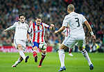 Atletico de Madrid spanish foward Koke and Real Madrid spanish foward Isco during the king´s cup football match with Atletico de Madrid vs Real Madrid at the Santiago Bernabeu stadium in Madrid on Jaunary 15, 2015. Samuel de Roman / Photocall3000.
