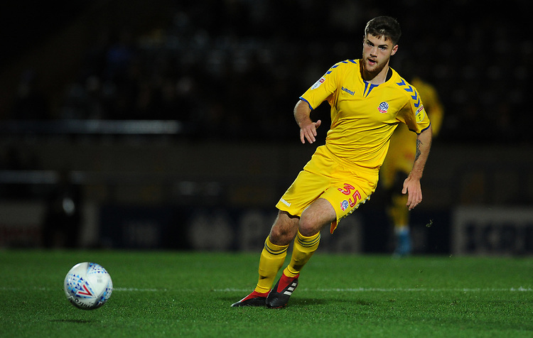 Bolton Wanderers' Sonny Graham<br /> <br /> Photographer Kevin Barnes/CameraSport<br /> <br /> EFL Leasing.com Trophy - Northern Section - Group F - Rochdale v Bolton Wanderers - Tuesday 1st October 2019  - University of Bolton Stadium - Bolton<br />  <br /> World Copyright © 2018 CameraSport. All rights reserved. 43 Linden Ave. Countesthorpe. Leicester. England. LE8 5PG - Tel: +44 (0) 116 277 4147 - admin@camerasport.com - www.camerasport.com