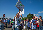Crowds arrived at Bonney Field at CalExpo for the Bernie Sanders Rally in Sacramwnto, California on Monday, May 9, 2016.  Photo/Victoria Sheridan