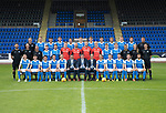 St Johnstone FC Season 2017-18 Photocall<br /> Pictured back row from left, Manny Fowler Kit Manager, Ally Gilchrist, Graham Cummins, Liam Gordon, Chris Kane, Blair Alston, Jason Kerr, Joe Shaughnessy, Murray Davidson, Brian Easton, Keith Watson and George Browning U20 GK Coach.<br /> Middle row from left, Tony Tompos, Head Physio, Paul Mathers GK Coach, Alistair Stevenson Youth Dev Manager, Kyle McClean, Paul Paton, Ben MacKenzie, Alan Mannus, Zander Clark, Mark Hurst, Scott Tanser, Liam Craig, Alex Headrick Sports Scientist, Mel Stewart Physio and Euan Peacock Chief Scout.<br /> Front row from left, David Wotherspoon, Craig Thomson, Aaron Comrie, Stefan Scougall, Steven Anderson Captain, Callum Davidson Assistant Manager, Tommy Wright Manager, Alex Cleland Coach, Chris Millar Vice Captain, Michael O&iacute;Halloran, Greg Hurst, Steven MacLean and Richie Foster. <br /> Picture by Graeme Hart.<br /> Copyright Perthshire Picture Agency<br /> Tel: 01738 623350  Mobile: 07990 594431