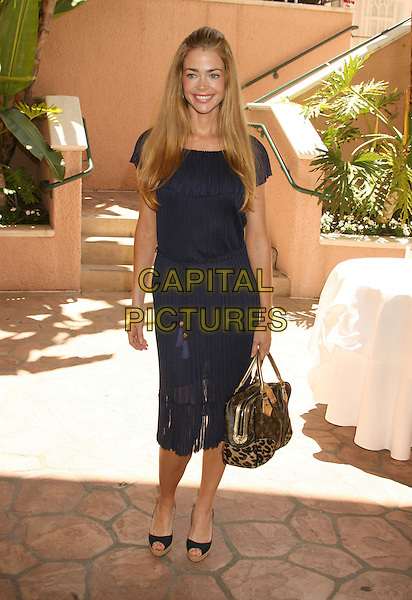 DENISE RICHARDS.St. John's Hospital Annual Mother's Day Luncheon held at the Beverly Hills Hotel, Beverly Hills, California, USA..May 9th, 2007 .full length navy blue pleated dress peep toe shoes louis vuitton leaopard print bag purse.CAP/ADM/RE.©Russ Elliot/AdMedia/Capital Pictures