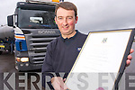 Donie Foley, Leamnaguilla, Kilcummin, who has completed a Bachelor of Arts in Human Resourse management while working as a truck driver for Kerry Group.