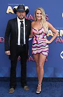 15 April 2018 - Las Vegas, NV -  Jason Aldean, Brittany Kerr.  2018 ACM Awards arrivals at MGM Grand Garden Arena. <br /> CAP/ADM/MJT<br /> &copy; MJT/ADM/Capital Pictures