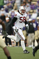 11 November 2006: Brian Bulcke during Stanford's 20-3 win over the Washington Huskies in Seattle, WA.