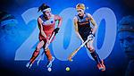 VOGELENZANG -  Carlien Dirkse van den Heuvel (Ned)  en Eva de Goed speelden 200 interlands. . Spelerslunch KNHB 2019. (Ned)   COPYRIGHT KOEN SUYK