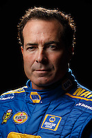 Feb 10, 2016; Pomona, CA, USA; NHRA funny car driver Ron Capps poses for a portrait during media day at Auto Club Raceway at Pomona. Mandatory Credit: Mark J. Rebilas-USA TODAY Sports