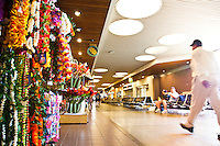 Leis for sale at the Honolulu International Airport