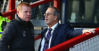 1st December 2019; Global Energy Stadium, Dingwall, Highland, Scotland; Scottish Premiership Football, Ross County versus Celtic; Celtic Manager Neil Lennon chats to Ross County chairman Roy MacGregor - Editorial Use