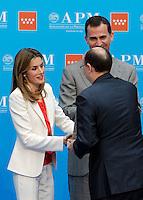 MADRID, ESPANHA, 05 DE JUNHO 2012 - PREMIO JORNALISMO FAMILIA REAL - O principe Felipe de Borbon e a princeia Letizia durante entrega do Premio de Jornalismo na Casa de Correos em Madrid, capital da Espanha nesta terca-feira, 05. (FOTO: ALEX CID-FYENTES / ALFAQUI / BRAZIL PHOTO PRESS).
