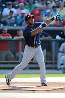 Mobile Bay Bears right fielder Alfredo Marte #21 swings at a pitch during Home Run Derby before the Southern League All-Star Game  at Smokies Park on June 19, 2012 in Kodak, Tennessee.  The South Division defeated the North Division 6-2. (Tony Farlow/Four Seam Images).