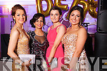 Rebecca Lyons, Aoife Walsh,  Michelle O'Connor and Ellen Flemming at the Castleisland Presentation debs ball at the Earl of Desmond hotel on Saturday night.