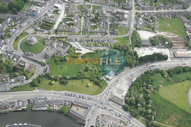 Aerial photo of Drogheda showing McDonalds and the Bus Depot looking south.  Mill Mount is also in view. 04/06/06...Photo NEWSFILE/Fran Caffrey.(Photo credit should read Fran Caffrey/NEWSFILE)....This Picture has been sent you under the condtions enclosed by:.Newsfile Ltd..The Studio,.Millmount Abbey,.Drogheda,.Co Meath..Ireland..Tel: +353(0)41-9871240.Fax: +353(0)41-9871260.GSM: +353(0)86-2500958.email: pictures@newsfile.ie.www.newsfile.ie.FTP: 193.120.102.198...This picture is from Fran Caffrey@newsfile.ie