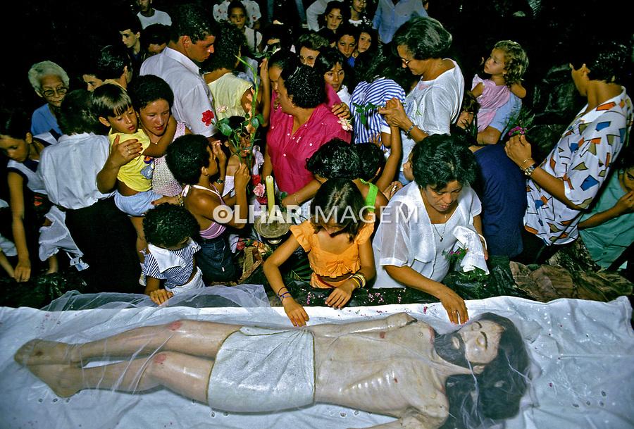 Procissão da Semana Santa em Goiás. 1986. Foto de Salomon Cytrynowicz.