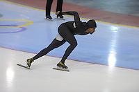 SCHAATSEN: SALT LAKE CITY: Utah Olympic Oval, 14-11-2013, Essent ISU World Cup, training, Shani Davis (USA), ©foto Martin de Jong