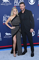 07 April 2019 - Las Vegas, NV - Carrie Underwood, Mike Fisher. 2019 ACM Awards at MGM Grand Garden Arena, Arrivals. Photo Credit: mjt/AdMedia
