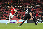 Pierre-Emerick Aubameyang of Arsenal scores the first goal during the UEFA Europa League match at the Emirates Stadium, London. Picture date: 28th November 2019. Picture credit should read: David Klein/Sportimage