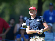 Owings Mills, MD - July 26, 2014: Stacy Lewis, of Team USA, follows her tee shot on the 10th hole during Round 3 of four-ball competition at the LPGA International Crown at the Caves Valley Golf Club in Owings Mills, MD on July 26, 2014. 32 players from twelve countries competed in this inaugural tournament.  (Photo by Don Baxter/Media Images International)