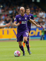 Fiorentina's Borja Valero     in action during the Italian Serie A soccer match between SSC Napoli and AC Fiorentina  at San Paolo stadium in Naples,October 18, 2015